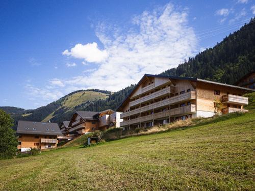 Vacances en montagne Residence Le Grand Lodge - Chatel - Extérieur été