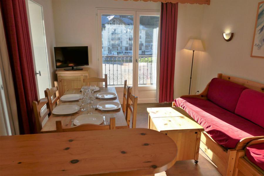 Urlaub in den Bergen 3-Zimmer-Appartment für 6 Personen (105) - Résidence le Grand Panorama - Saint Gervais - Wohnzimmer