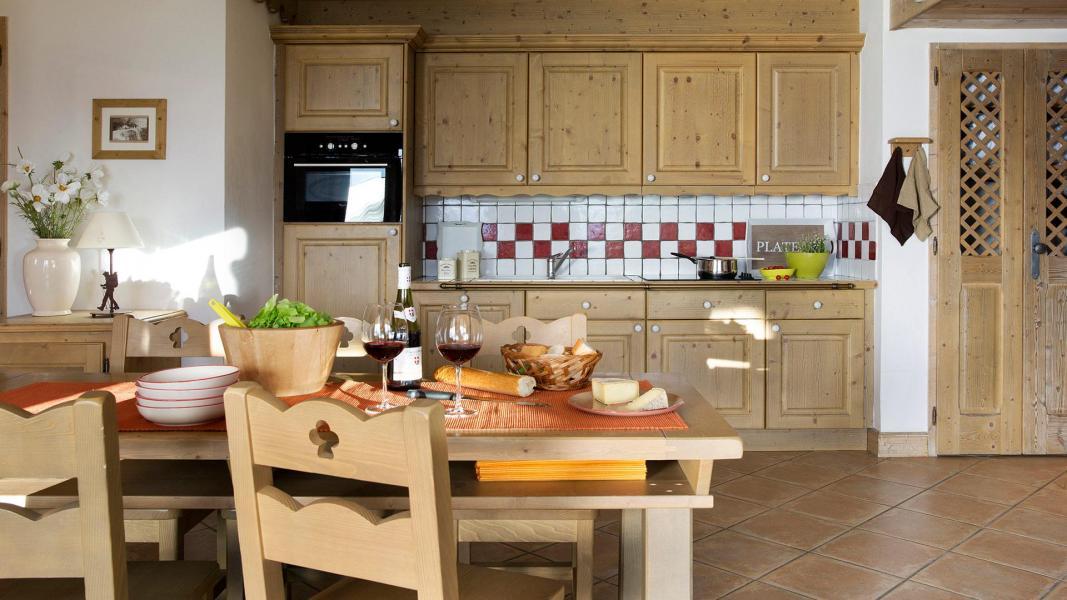 Urlaub in den Bergen Résidence le Hameau de Pierre Blanche - Les Houches - Küche