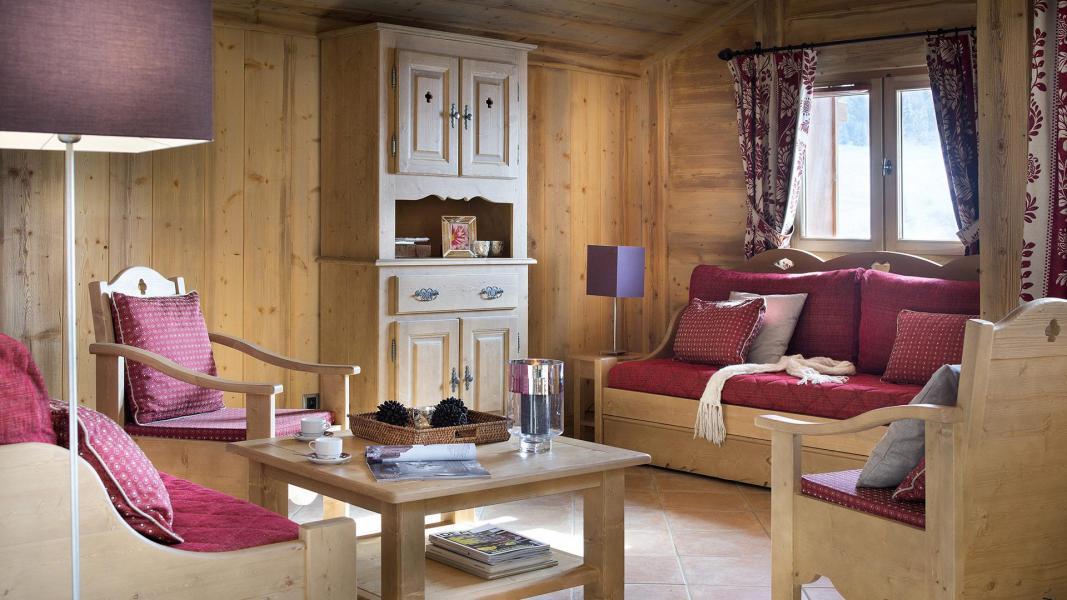 Urlaub in den Bergen Résidence le Hameau de Pierre Blanche - Les Houches - Wohnzimmer