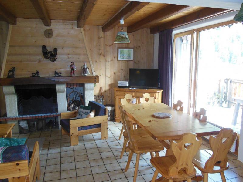 Vacances en montagne Chalet 4 pièces 8 personnes (A012P) - Résidence le Hameau des Rochers - Champagny-en-Vanoise - Cheminée