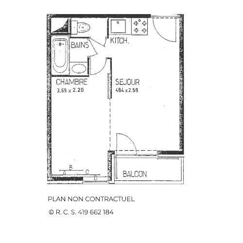 Vacanze in montagna Appartamento 1 stanze per 4 persone (B77) - Résidence le Jettay - Les Menuires - Alloggio