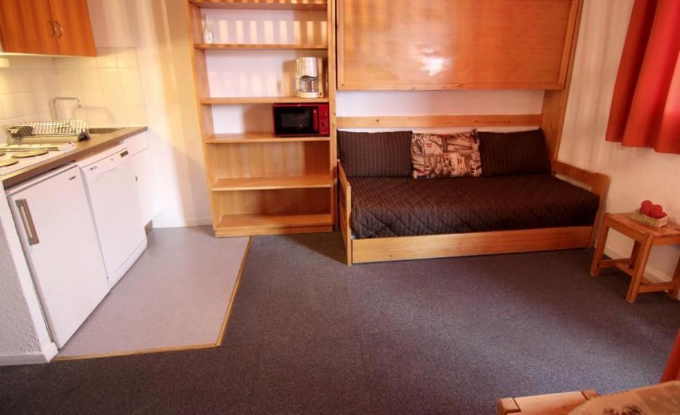 Vacances en montagne Studio cabine 4 personnes (8) - Résidence le Joker - Val Thorens - Canapé