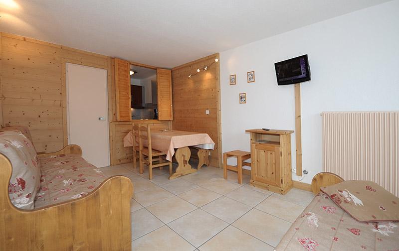 Vakantie in de bergen Appartement 2 kamers 5 personen (LC0112) - Résidence le Lac du Lou - Les Menuires - Woonkamer