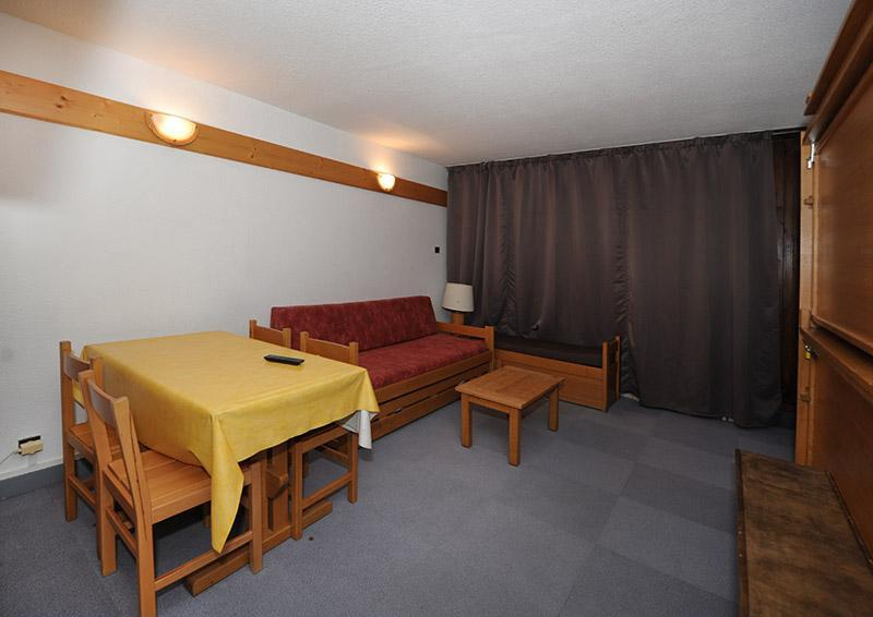 Vakantie in de bergen Studio 4 personen (LC0111) - Résidence le Lac du Lou - Les Menuires - Woonkamer