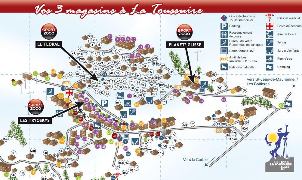 Wakacje w górach Résidence le Lys - La Toussuire - Plan