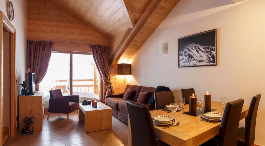 Urlaub in den Bergen Résidence le Napoléon - Montgenèvre - Wohnzimmer