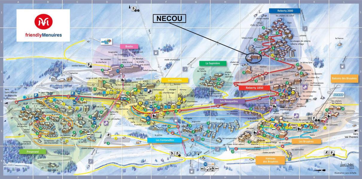 Vacanze in montagna Résidence le Nécou - Les Menuires - Mappa