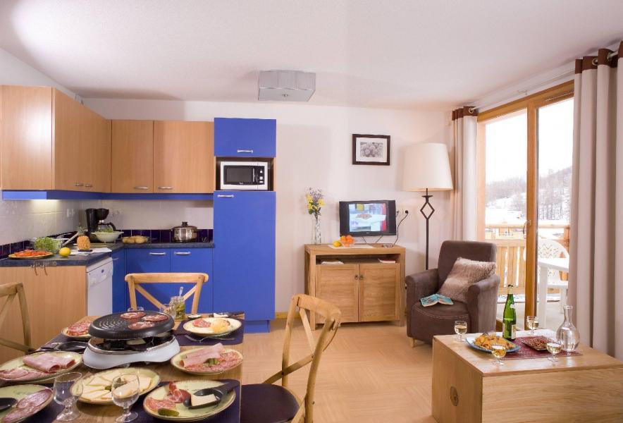 Urlaub in den Bergen Résidence le Parc des Airelles - Les Orres - Wohnzimmer
