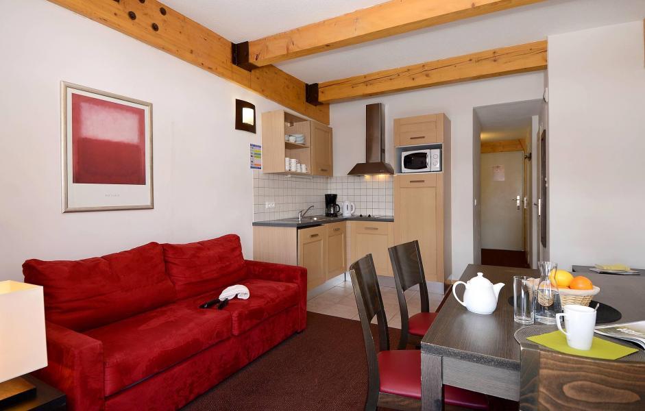 Urlaub in den Bergen Résidence le Pelvoux - La Plagne - Wohnzimmer