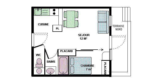 Vacances en montagne Appartement 2 pièces 4 personnes (20) - Résidence le Petit Mont Cenis - Termignon-la-Vanoise - Plan