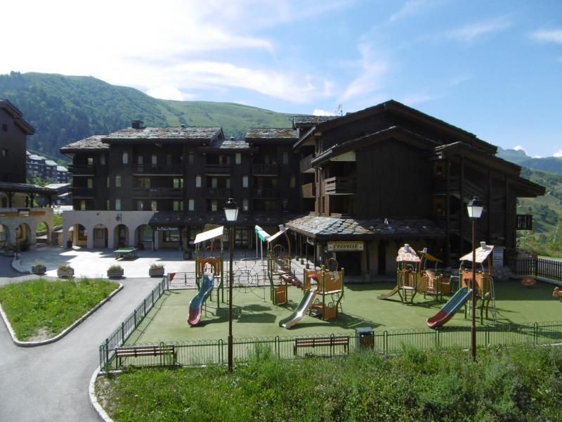 Vacances en montagne Studio 3 personnes (008) - Résidence le Pierrafort - Valmorel - Extérieur été