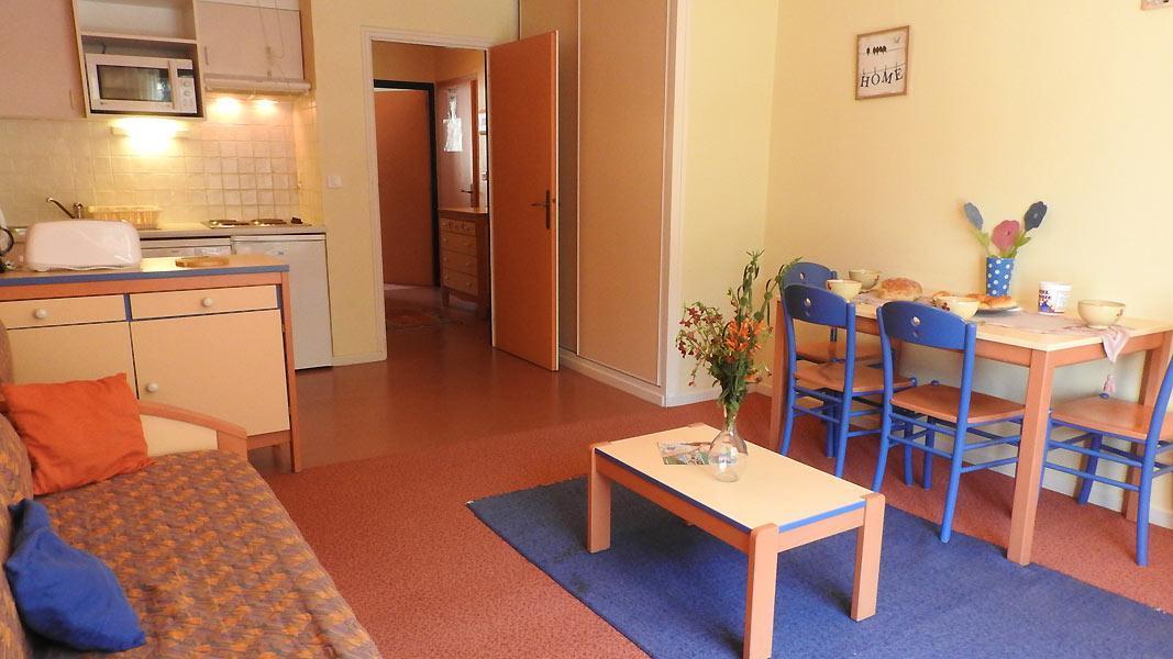 Vacaciones en montaña Apartamento 2 piezas para 4 personas (PR13CO) - Résidence le Pra - La Norma - Comedor