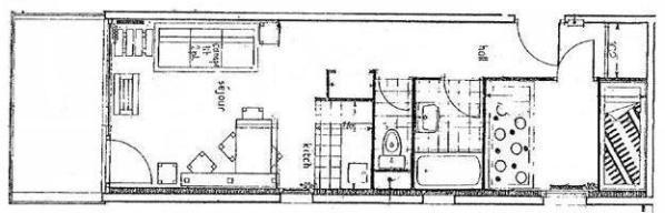 Vacances en montagne Appartement 2 pièces 6 personnes (057) - Résidence le Rey - Peisey-Vallandry - Plan