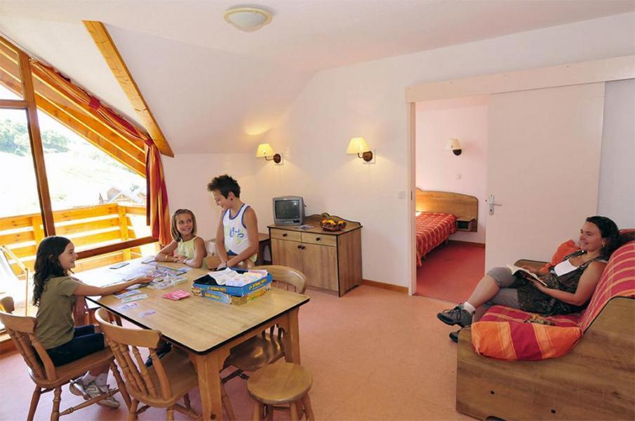 Urlaub in den Bergen Résidence le Rond Point des Pistes - Saint-François Longchamp - Wohnzimmer