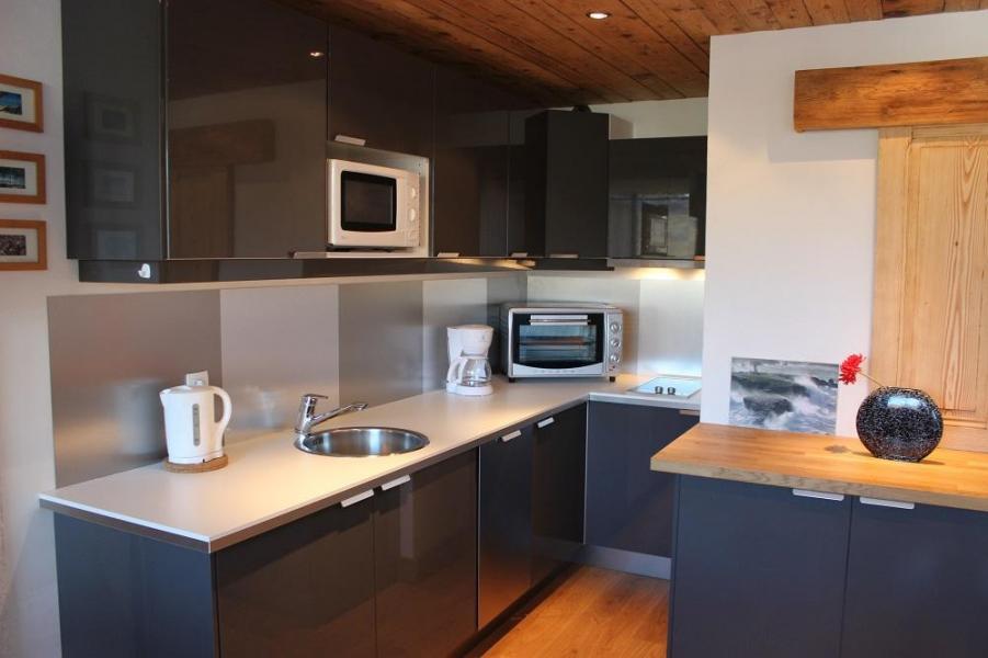 Vacances en montagne Studio 4 personnes (H8) - Résidence le Sérac - Val Thorens - Cuisine ouverte