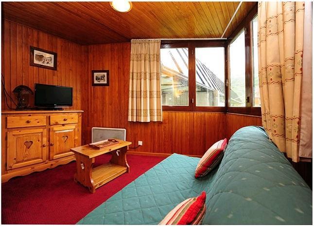 Vacances en montagne Appartement 2 pièces cabine 6 personnes (211) - Résidence le Sorbier - Les Menuires - Canapé