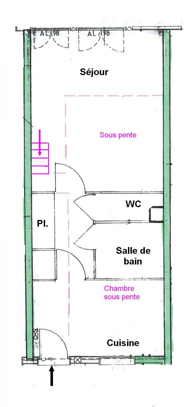 Vacaciones en montaña Apartamento 2 piezas para 5 personas (025) - Résidence le Tavaillon - Les Saisies - Plano