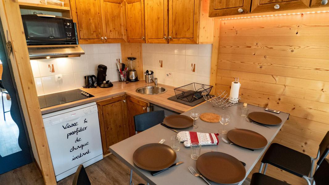 Wakacje w górach Studio kabina 5 osób (A-6) - Résidence le Thabor - Valfréjus - Aneks kuchenny