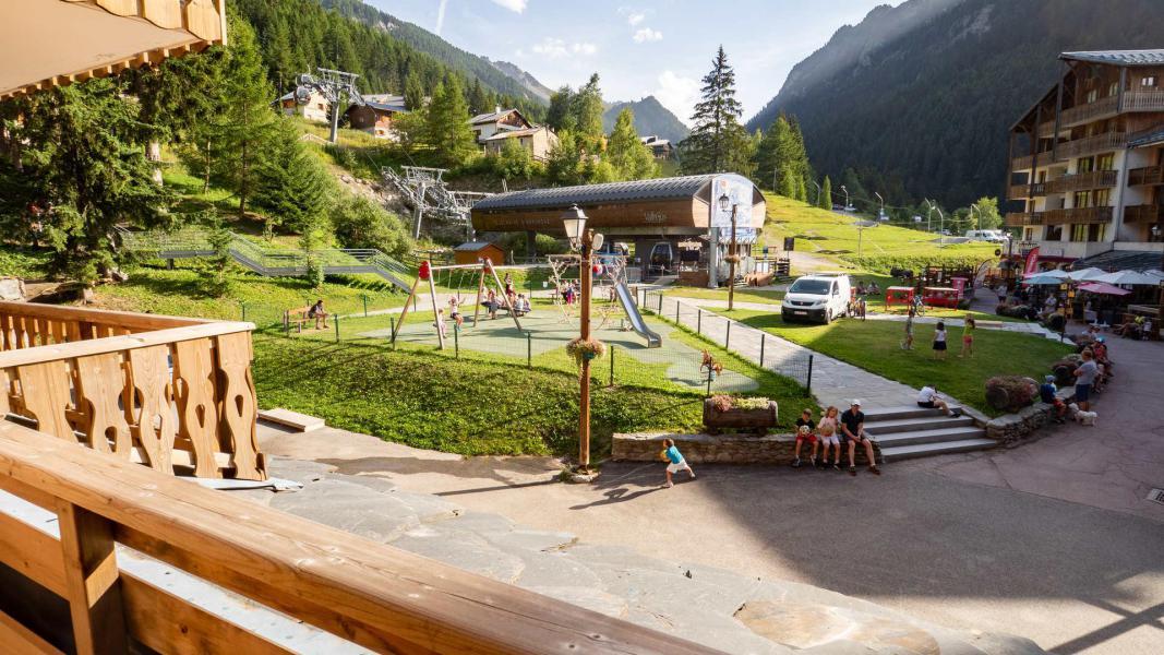 Wakacje w górach Studio kabina 5 osób (A-6) - Résidence le Thabor - Valfréjus - Balkon