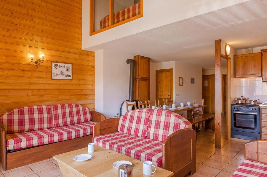 Urlaub in den Bergen Résidence le Val Chavière - Val Thorens - Kleines Wohnzimmer