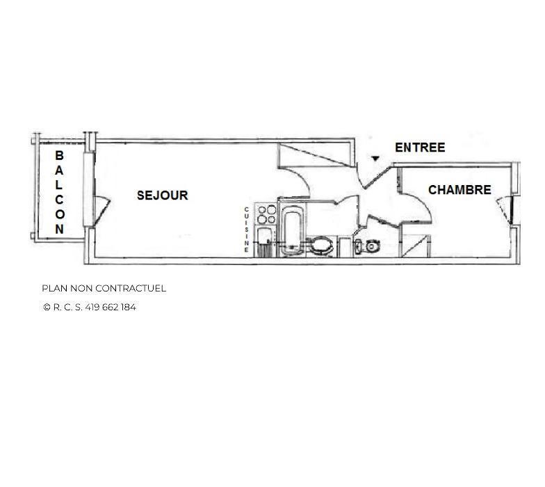 Vacances en montagne Appartement 2 pièces 4 personnes (711) - Résidence le Valmont - Les Menuires