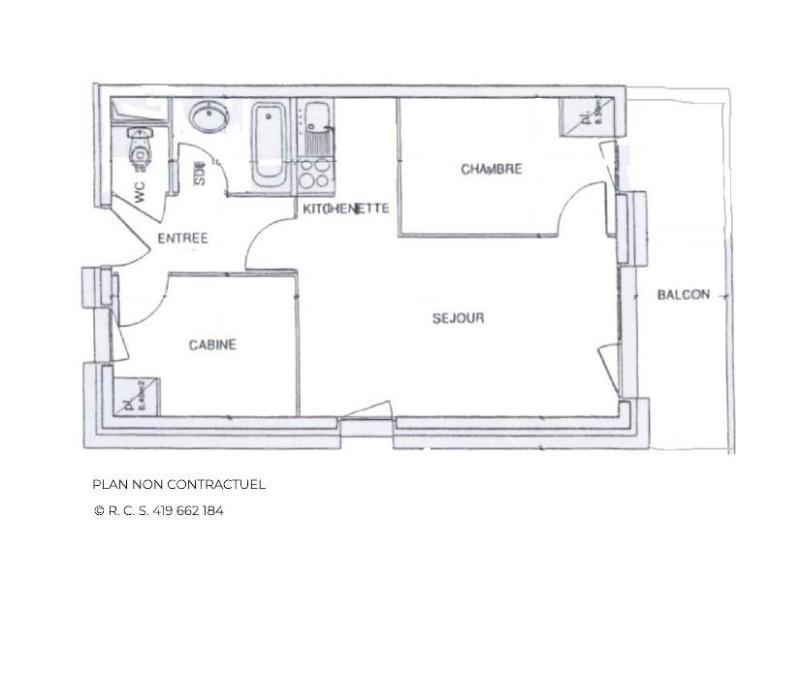 Vacances en montagne Appartement 3 pièces 5 personnes (B33) - Résidence le Valmont - Les Menuires