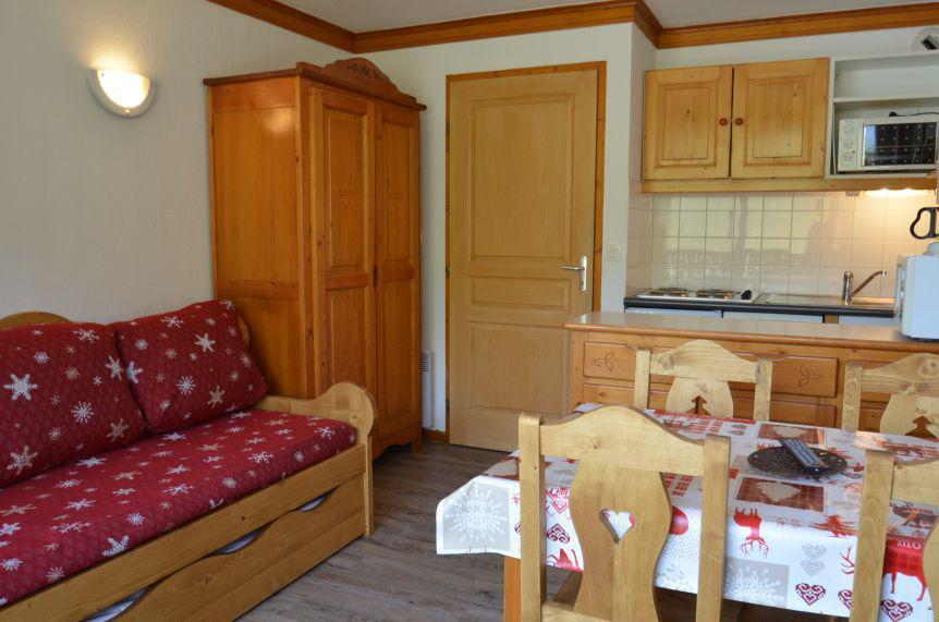 Vacances en montagne Studio cabine 4 personnes (403) - Résidence le Valmont - Les Menuires - Séjour