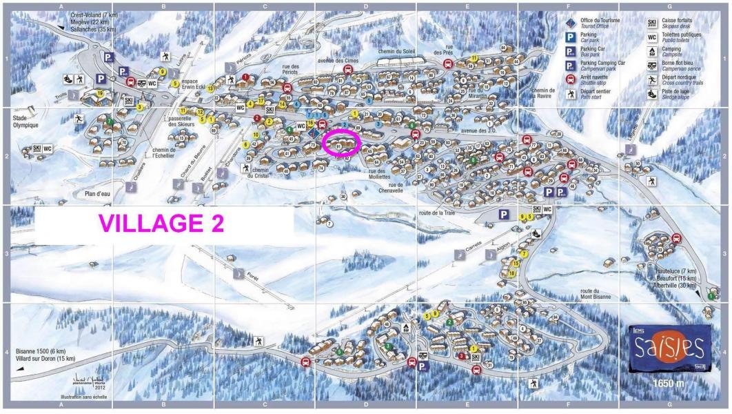 Vacaciones en montaña Résidence le Village 2 - Les Saisies - Plano
