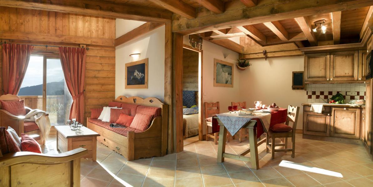 Urlaub in den Bergen Résidence le Village de Lessy - Le Grand Bornand - Esszimmer