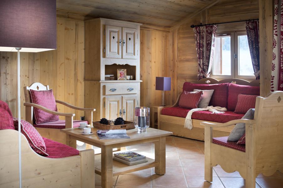 Urlaub in den Bergen Résidence le Village de Lessy - Le Grand Bornand - Kleines Wohnzimmer
