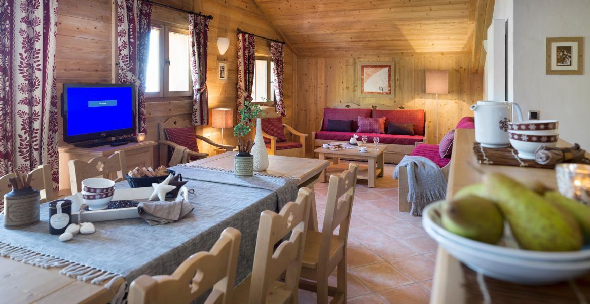 Urlaub in den Bergen Résidence le Village de Lessy - Le Grand Bornand - Wohnzimmer