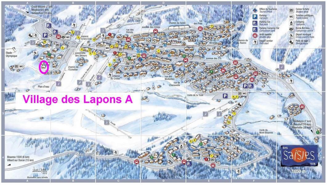 Vacaciones en montaña Résidence le Village des Lapons A - Les Saisies - Plano