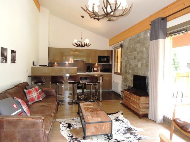 Vacaciones en montaña Apartamento dúplex 4 piezas 6 personas (A32) - Résidence les 4 Eléments - Châtel - Salón