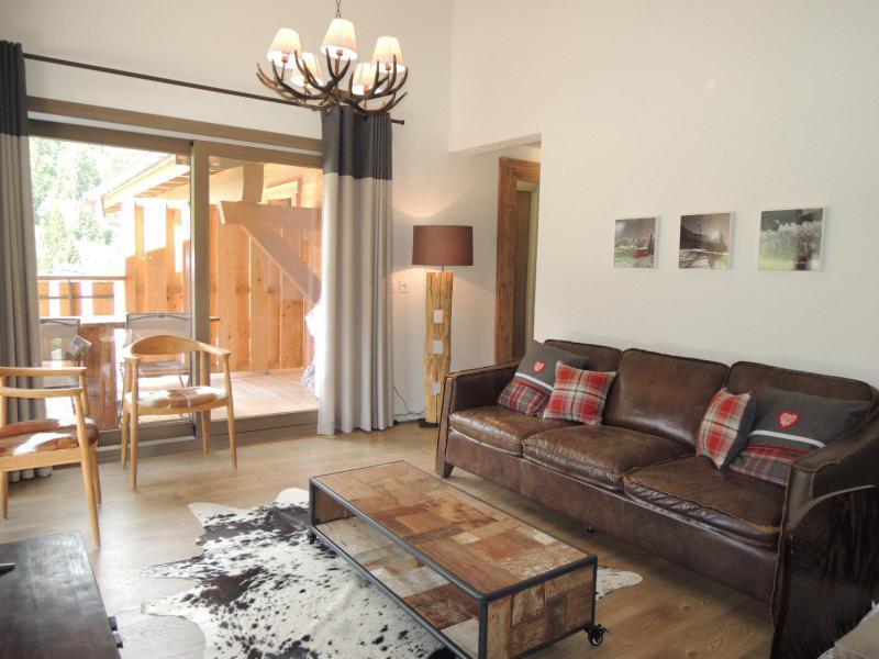 Vacaciones en montaña Apartamento dúplex 4 piezas 6 personas (A32) - Résidence les 4 Eléments - Châtel - Sofá