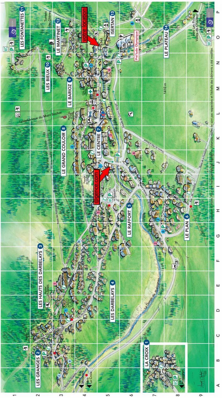 Vacaciones en montaña Résidence les 4 Saisons - Pralognan-la-Vanoise - Plano