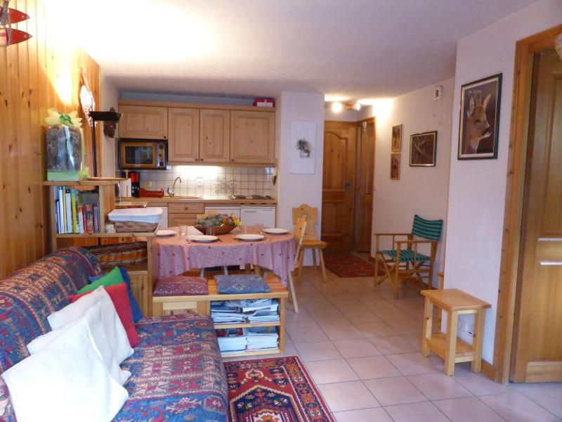 Wakacje w górach Apartament 2 pokojowy kabina 5 osób (B6) - Résidence les Aiguilles Rouges - Les Houches - Pokój gościnny