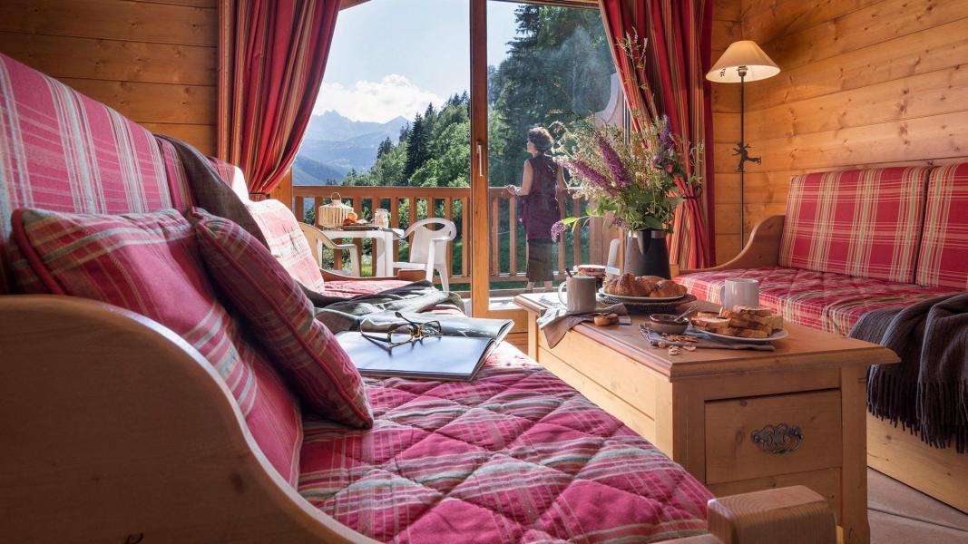 Urlaub in den Bergen Résidence les Alpages de Champagny - Champagny-en-Vanoise - Kleines Wohnzimmer