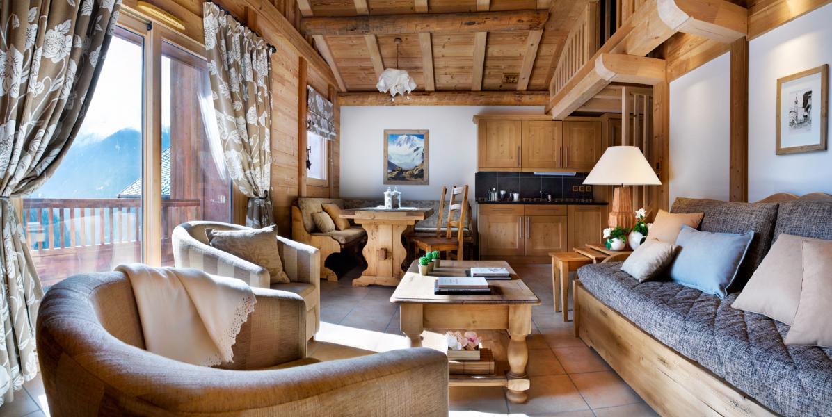 Urlaub in den Bergen Résidence les Alpages de Champagny - Champagny-en-Vanoise - Wohnzimmer