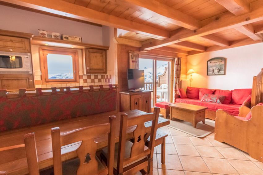 Vacaciones en montaña Apartamento dúplex 4 piezas 6 personas (E14) - Résidence les Alpages de Chantel - Les Arcs - Mesa