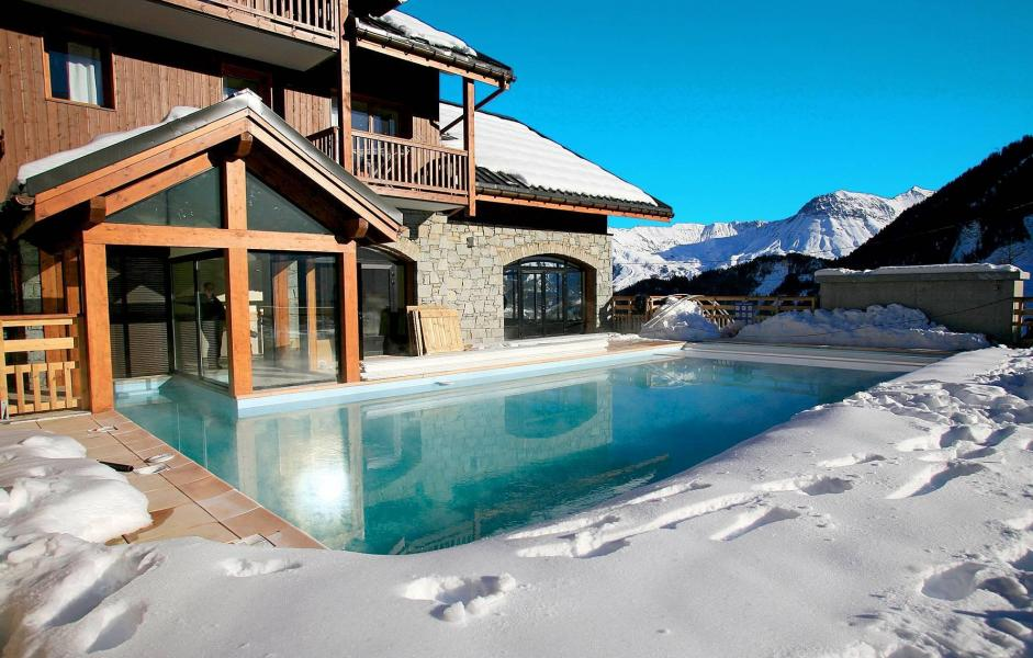 Vacances en montagne Résidence les Alpages du Corbier - Le Corbier - Piscine