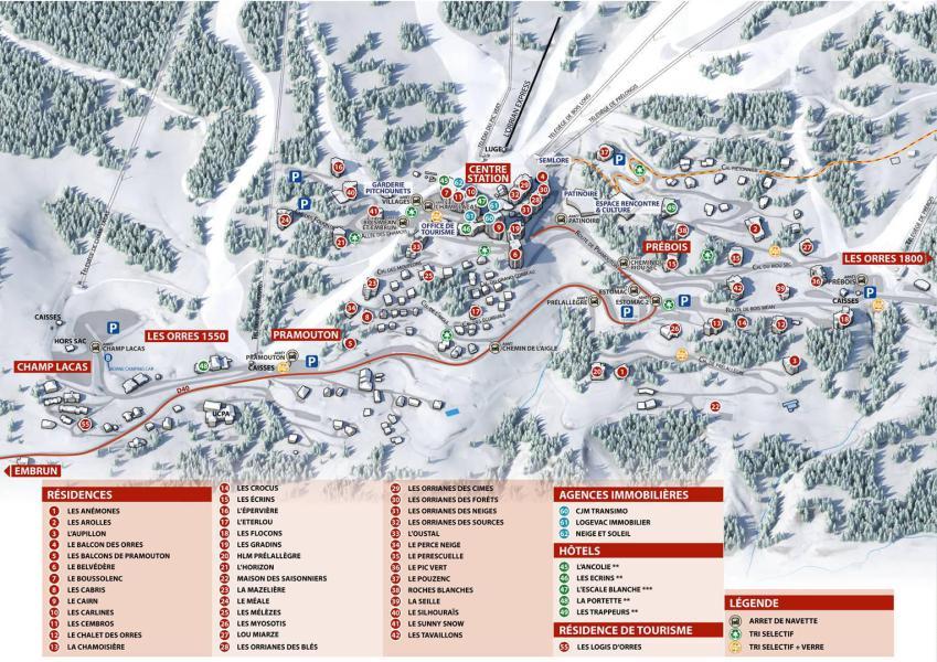 Wakacje w górach Résidence les Anémones - Les Orres