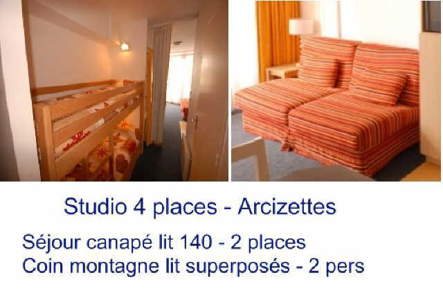 Holiday in mountain resort Studio 4 people (ARC39) - Résidence les Arcizettes - Gourette - Plan