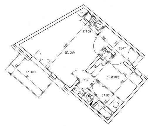 Vacances en montagne Appartement 2 pièces cabine 6 personnes (535) - Résidence les Balcons d'Olympie - Les Menuires
