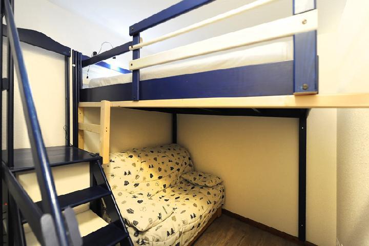 Vacances en montagne Appartement 2 pièces cabine 5 personnes (107) - Résidence les Balcons d'Olympie - Les Menuires - Couchage