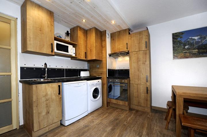 Vacances en montagne Appartement 2 pièces cabine 5 personnes (107) - Résidence les Balcons d'Olympie - Les Menuires - Séjour