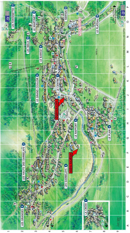 Wakacje w górach Résidence les Balcons de Villeneuve - Pralognan-la-Vanoise - Plan