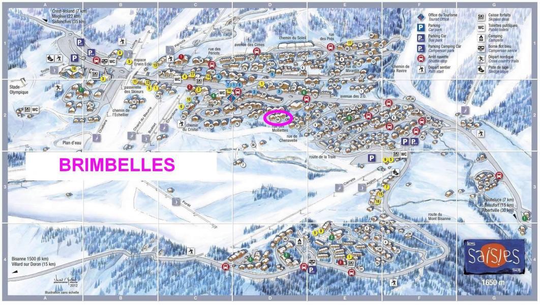 Vacaciones en montaña Résidence les Brimbelles - Les Saisies - Plano
