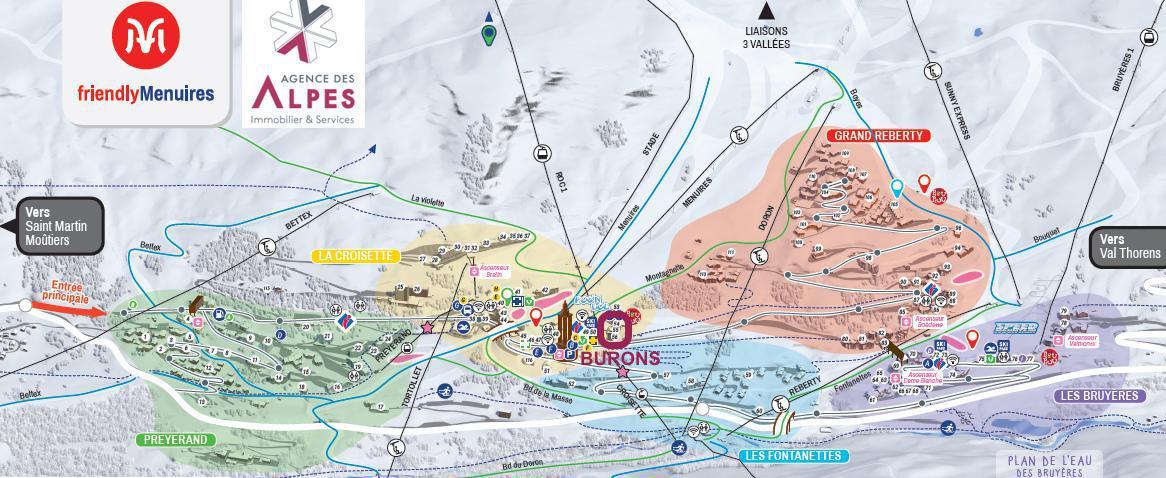 Vacances en montagne Résidence les Burons - Les Menuires