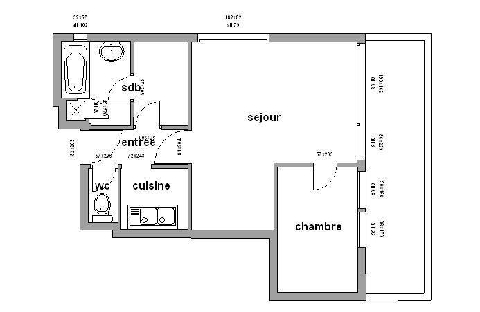 Vacances en montagne Appartement 2 pièces 4 personnes (308) - Résidence les Carlines - Chamrousse - Plan